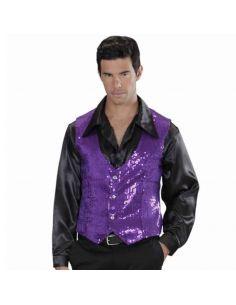 Chaleco de Lentejuelas Violeta Tienda de disfraces online - venta disfraces