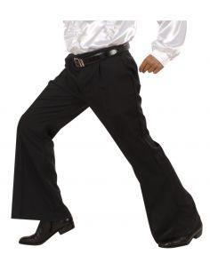 Pantalón Negro de campana Tienda de disfraces online - venta disfraces