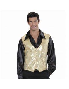 Chaleco de lentejuelas dorado elegante Tienda de disfraces online - venta disfraces