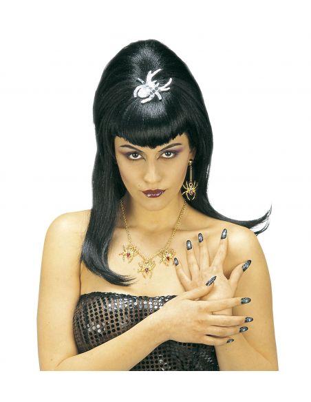 Peluca de Vampiresa con Araña Tienda de disfraces online - venta disfraces