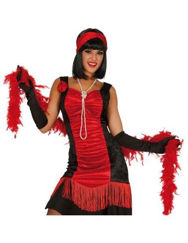 Boa en color Rojo Tienda de disfraces online - venta disfraces