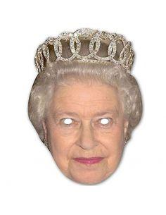Máscara Reina de Inglaterra de papel
