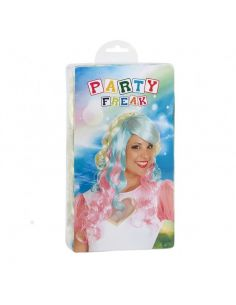 Peluca multicolor para adulto Tienda de disfraces online - venta disfraces