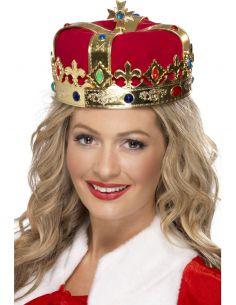 Corona de Reina lujo con terciopelo Tienda de disfraces online - venta disfraces