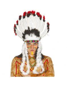 Penacho de Plumas Jefe Indio Tienda de disfraces online - venta disfraces