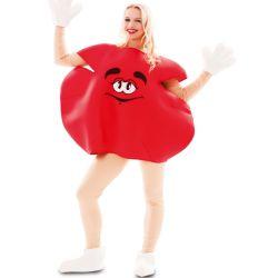 Disfraz Caramelo M&M Rojo adulto Tienda de disfraces online - venta disfraces
