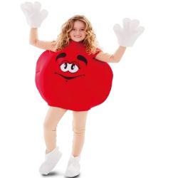 Disfraz Caramelo M&M Rojo infantil Tienda de disfraces online - venta disfraces