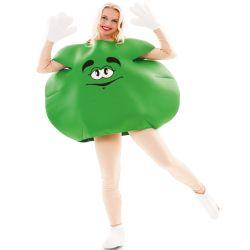 Disfraz Caramelo M&M Verde Adulto Tienda de disfraces online - venta disfraces