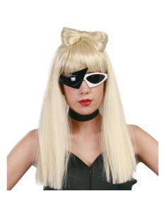 Peluca Lady con lazo Tienda de disfraces online - venta disfraces