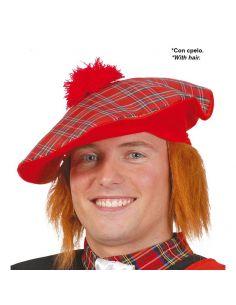 Sombrero Escoces con pelo Tienda de disfraces online - venta disfraces