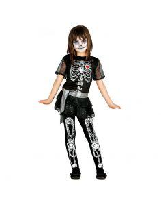 Disfraz Esqueleto Brillante Niña Tienda de disfraces online - venta disfraces