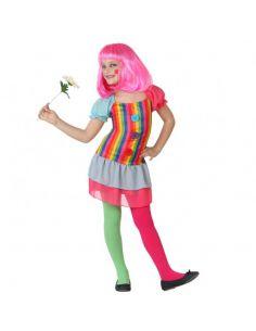 Disfraz de Payasa de rayas para niña Tienda de disfraces online - venta disfraces