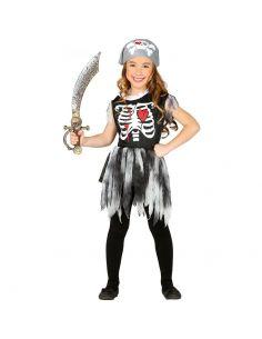 Disfraz Pirata Esqueleto Niña Tienda de disfraces online - venta disfraces