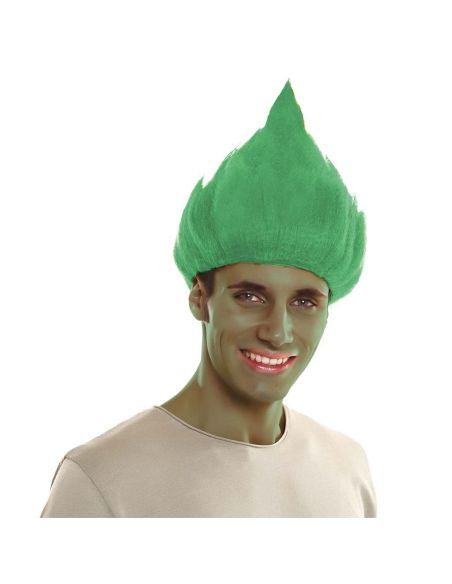 Peluca Troll Verde Tienda de disfraces online - venta disfraces