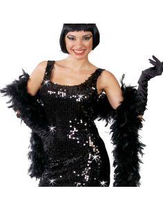 Boa en color Negro Tienda de disfraces online - venta disfraces
