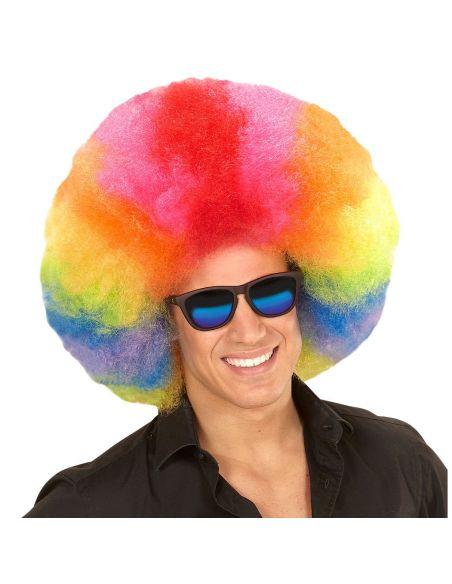 Peluca Afro Multicolores Tienda de disfraces online - venta disfraces