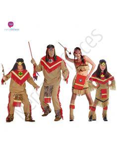 Disfraces para grupos Indios apaches Tienda de disfraces online - venta disfraces