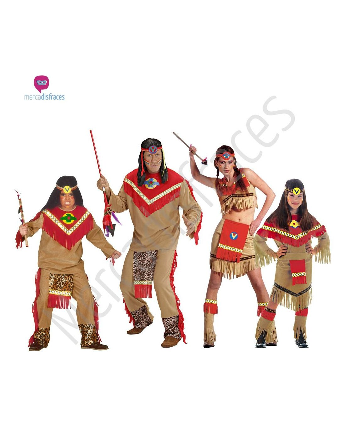 Disfraces para grupos Indios apaches  4f975cfa3f6