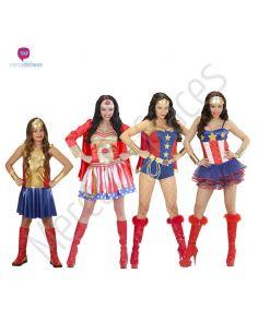 Disfraces para grupos Super Heroinas Tienda de disfraces online - venta disfraces