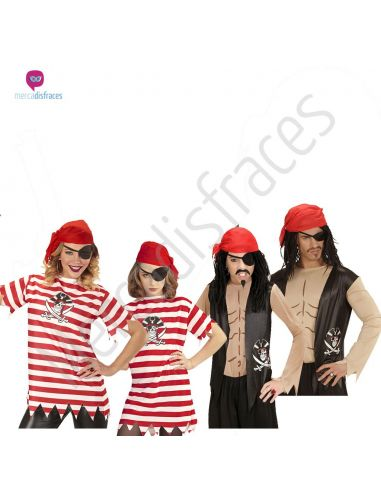 Disfraces grupo camisetas piratas Tienda de disfraces online - venta disfraces