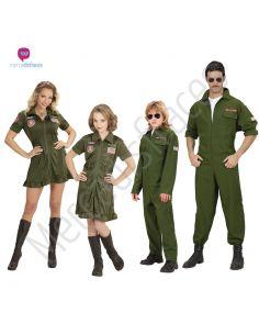 Disfraces grupo Pilotos verdes Tienda de disfraces online - venta disfraces