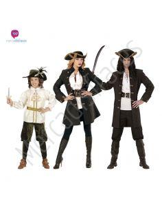 Disfraces grupo Piratas de lujo