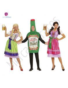 Disfraces grupo tirolesas y botella de cerveza Tienda de disfraces online - venta disfraces