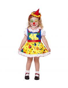 Disfraz payasita con topos para niña Tienda de disfraces online - venta disfraces