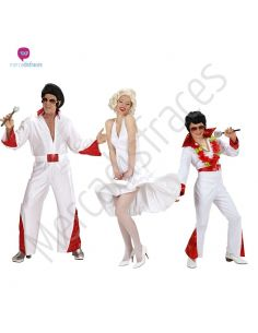 Disfraces grupos Elvis y Marilyn