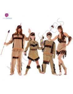 Disfraces grupos Indios Divertidos