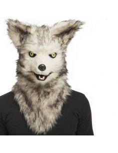 Máscara con mandíbula móvil lobo Tienda de disfraces online - venta disfraces