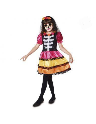 Disfraz Catrina Esqueleto Niña Tienda de disfraces online - venta disfraces