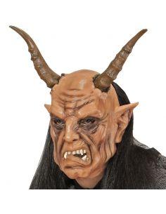 Máscara de diablo con peluca