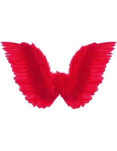 Alas rojas con plumas Tienda de disfraces online - venta disfraces