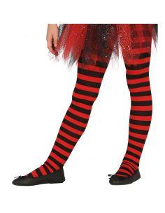 Pantys rojos con rayas infantíl Tienda de disfraces online - venta disfraces