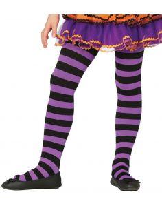 Pantys Lilas a rayas infantil Tienda de disfraces online - venta disfraces