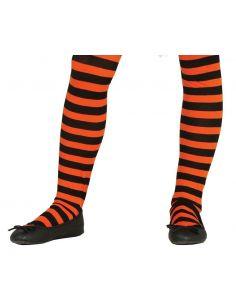Pantys Naranja con rayas infantil Tienda de disfraces online - venta disfraces