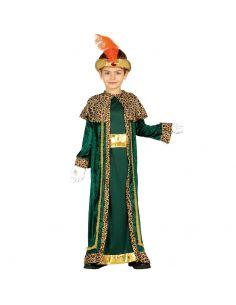 Disfraz de Rey Mago verde infantil Tienda de disfraces online - venta disfraces