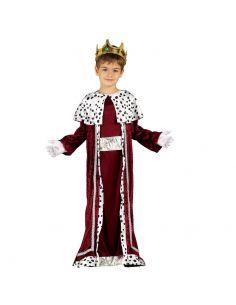 Disfraz de Rey Mago granate infantil