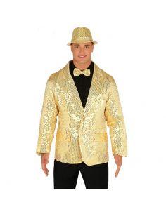 Chaqueta lentejuelas oro para adulto Tienda de disfraces online - venta disfraces