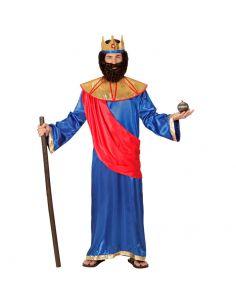 Disfraz Rey Bíblico azul adulto
