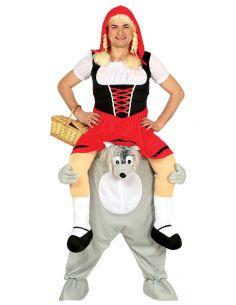 Disfráz de Lobo con Caperucita a hombros Tienda de disfraces online - venta disfraces