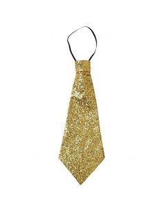 Corbata oro con escarcha Tienda de disfraces online - venta disfraces