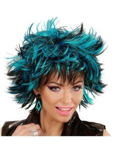 Peluca Steamy Negro y Azul Adulta Tienda de disfraces online - venta disfraces