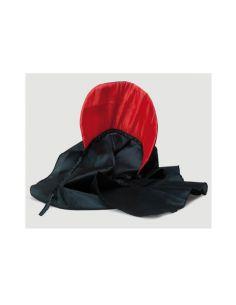 Capa Negra con Cuello Rojo para Niño