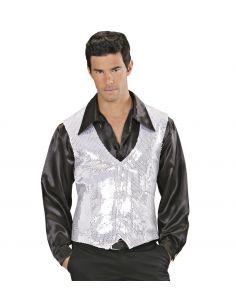 Chaleco en lentejuelas Plata Tienda de disfraces online - venta disfraces