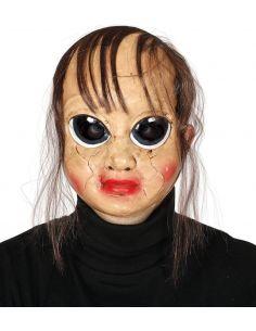 Máscara Muñeca Rota con Pelo