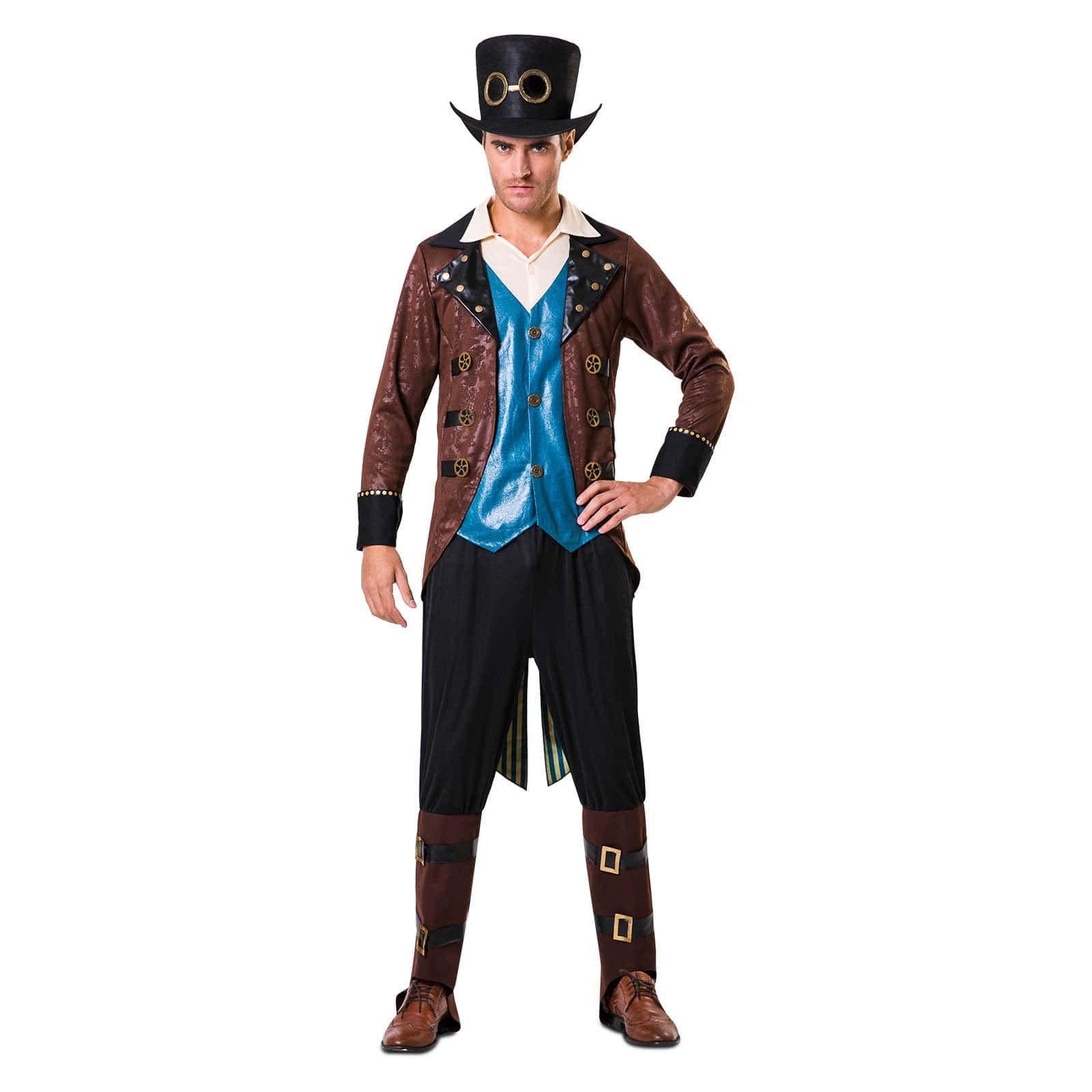 Disfraz Steampunk Sombrero De Copa para hombre  b6610fa27ce7