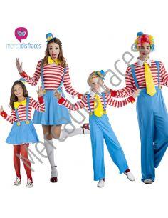 Disfraces Grupos Payasos Rayas Tienda de disfraces online - venta disfraces