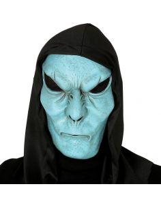Máscara Monstruo Azul con Capucha